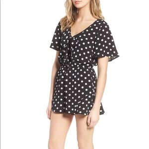 Band Of Gypsies Polka Dot Print Romper